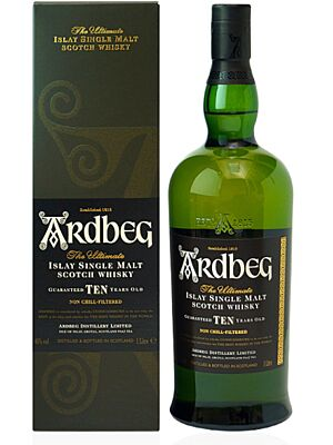 Ardbeg 10 year old Islay single malt Whisky 46.0% 1 l