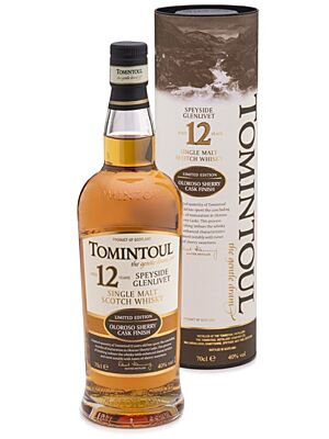 Tomintoul 12 Jahre Speyside Single Malt Scotch Whisky 40% 0,7 Liter