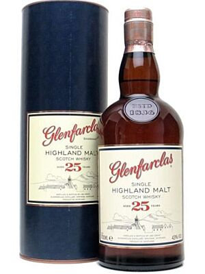 Glenfarclas 25 Jahre Single Highland Malt Scotch Whisky 43% 0,7 Liter