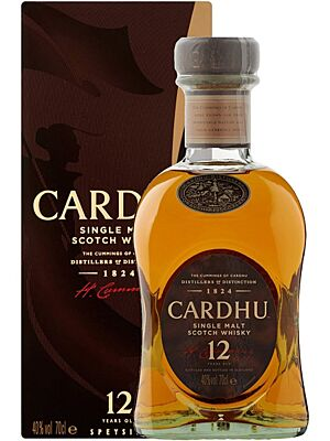 Cardhu 12 Years Speyside Single Malt Whisky 0,7 l