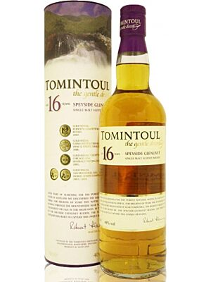 Tomintoul 16 year old Speyside single malt Scotch Whisky 40% 1 l