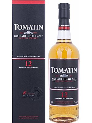 Tomatin 12 year old single malt Scotch Whisky 43% 0.7 l