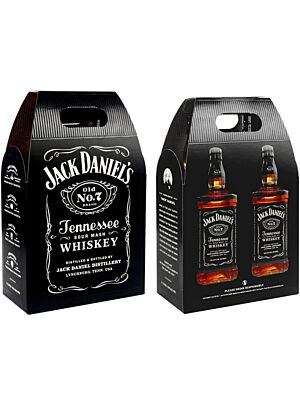 Jack Daniel's Black Label Whiskey Twinpack 2 x 1 l