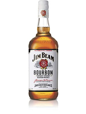 Jim Beam White Label Bourbon Whiskey 1 l