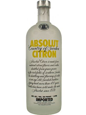 Absolut Citron (Zitrone) Vodka 1 Liter 40%