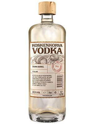 Koskenkorva Vodka Sauna Barrel 37.5% 1