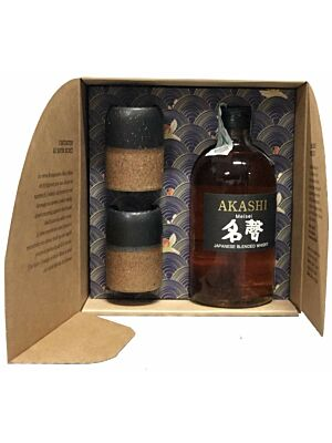 Akashi Meisei Japanese Blended Whisky + 2 glasses 40% 0,5l