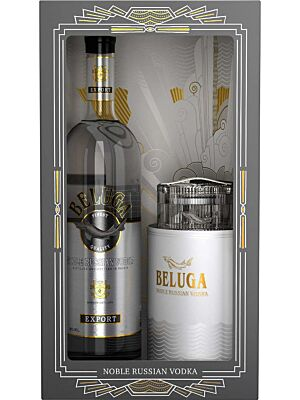 Beluga Noble Russian Vodka + Kaviarschale 40% 1,0l