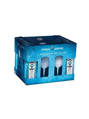 Bombay Sapphire Gift Set (4x0,7l) mit 6 Gläsern 40% 2,8l