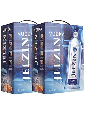Twin Pack Boris Jelzin Vodka Bag in Box 37.5% 2x3.0l