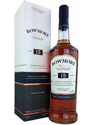 Bowmore 15 Jahre Golden & Elegant Islay Single Malt Scotch Whisky 43% 1,0l