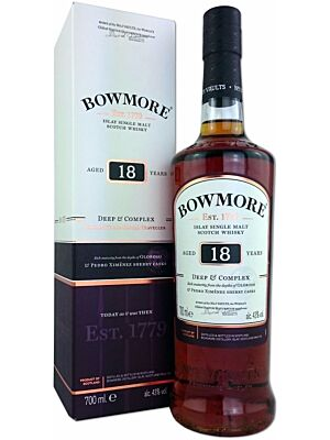 Bowmore 18 years Deep and Complex Islay Single Malt Scotch Whisky 43% 0,7l
