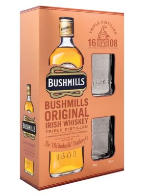 Bushmills Original Irish Whiskey + 2 glasses 40% 1,0l