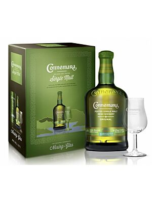 Connemara Peated Irish Single Malt Whiskey inkl. Glas 40% 0,7l
