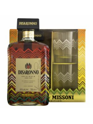 Disaronno Amaretto wears Missoni Limited Edition with Glasses 0,7 l
