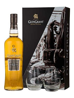 Glen Grant 12 Jahre + 2 Gläser Speyside Single Malt Scotch Whisky 43% 0,7l