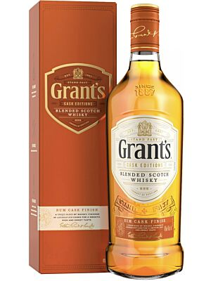 Grant's Rum Cask Finish Blended Scotch Whisky 40% 1.0l