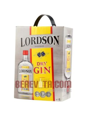 Lordson Dry Gin Bag in Box 3 Litre 37.5%