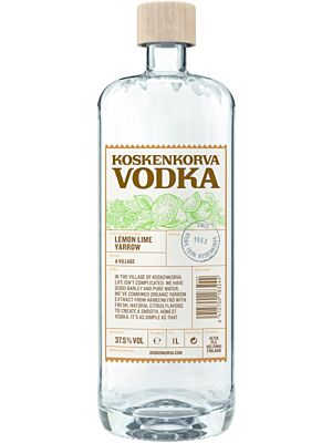 Koskenkorva Lemon Lime Yarrow Vodka 37,5 % 1,0 l