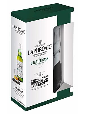 Laphroaig Quarter Cask Islay Single Malt + Glas 0,7 l