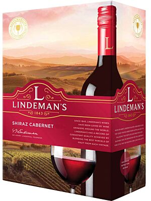 Lindeman's Shiraz Cabernet Sauvignon Bag in Box 13% 3.0l