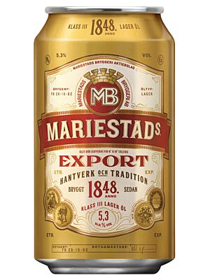 Mariestad Export 5.3% 24 x 0,33 liter