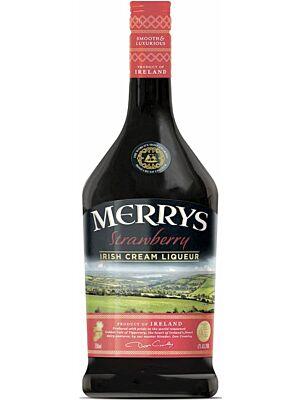 Merrys Strawberry Cream Liqueur 1 liter