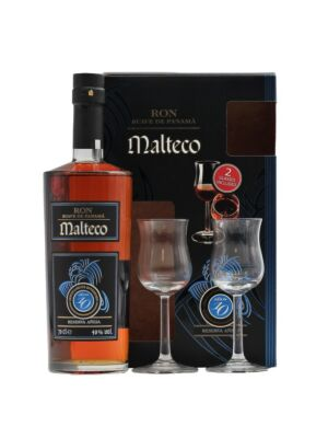 Ron Malteco Anejo Suave 10 years Gift Set with Glasses 40% 0,7l