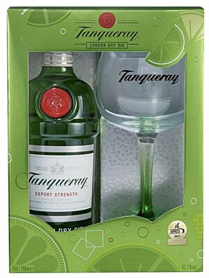 Tanqueray Gin 0,7 l in Gift Box with Glass