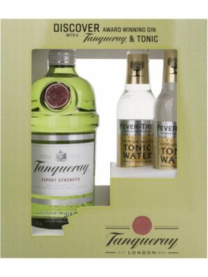 Tanqueray Gin Export Strength 43,1% 0,7 l + Gratis Fever Tree Tonic