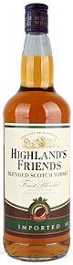 Highlands Friends Blended Scotch Whisky 40% 1.0l